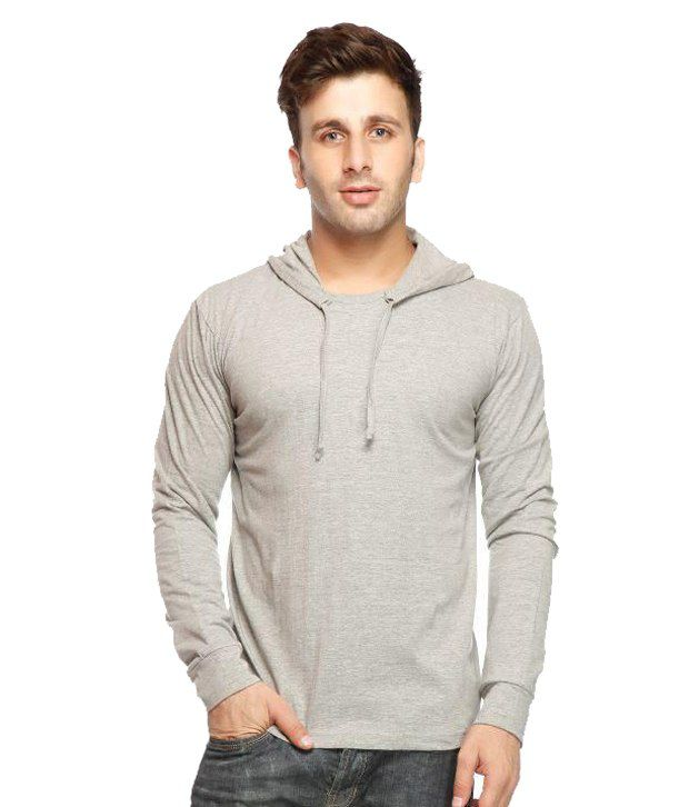 Gritstones Grey Hooded T Shirts