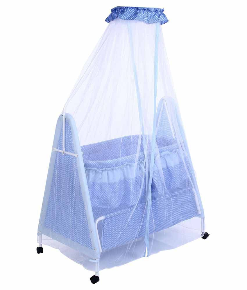 Sarita Export Blue Net Baby Cradle