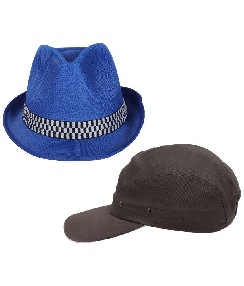 Sushito Blue and Brown Cap - Set of 2