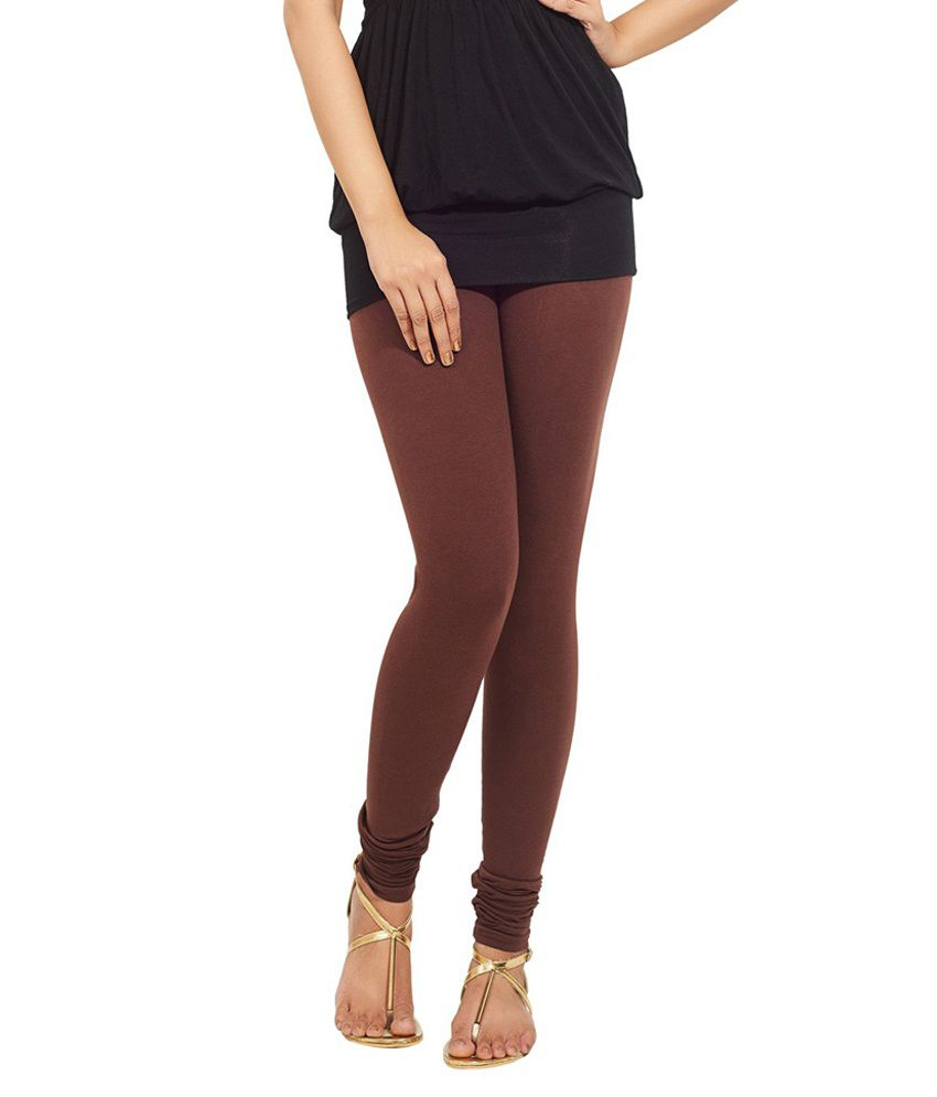 3827cf24768f7 Tozluk Lady Brown Cotton Leggings Price in India - Buy Tozluk Lady Brown  Cotton Leggings Online at Snapdeal
