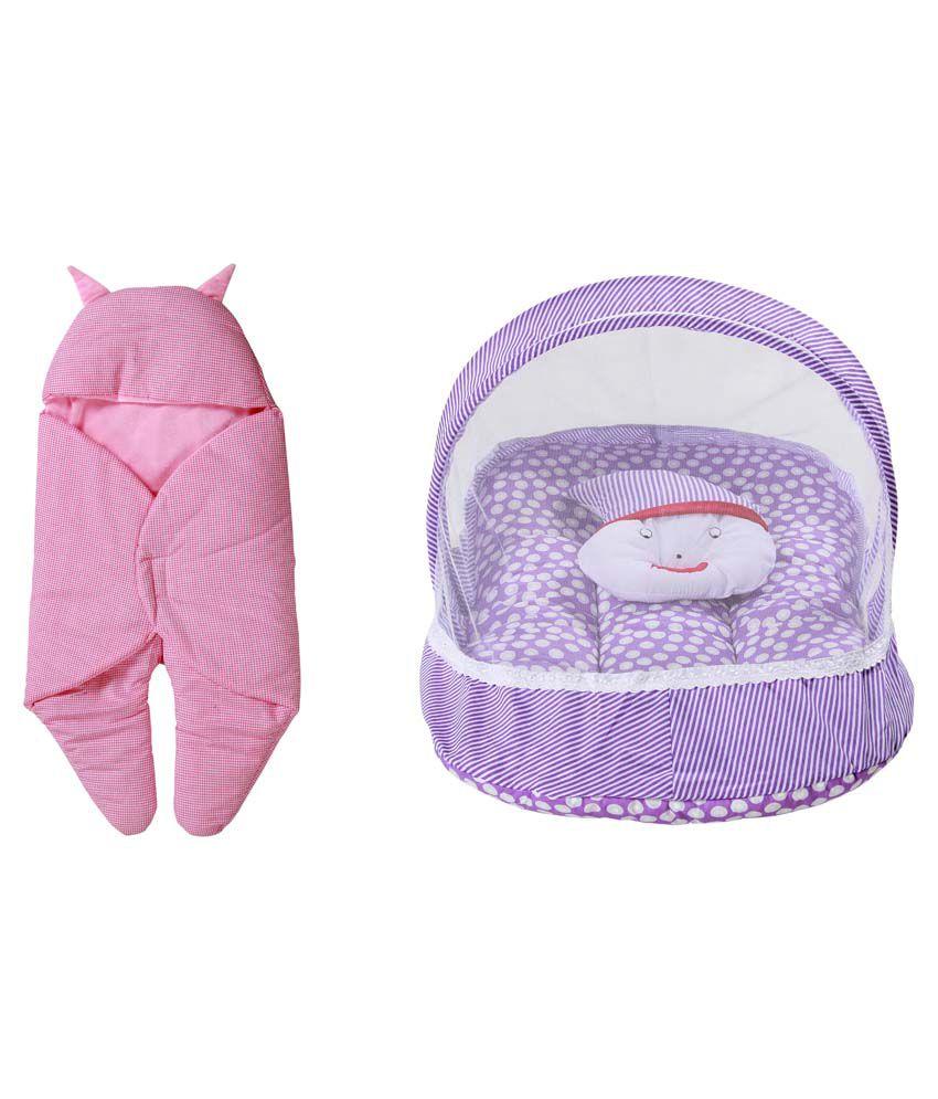 RSO Baby Bedding Mosquito Net & Reversable Baby Wrap Set Of 2