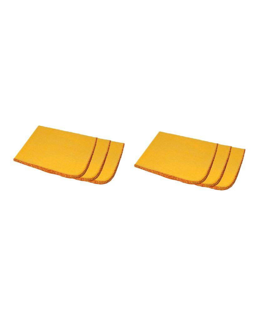 Valtellina Yellow Cotton Napkins   Pack of 6