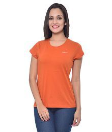 Frenchtrendz Orange Cotton Tees