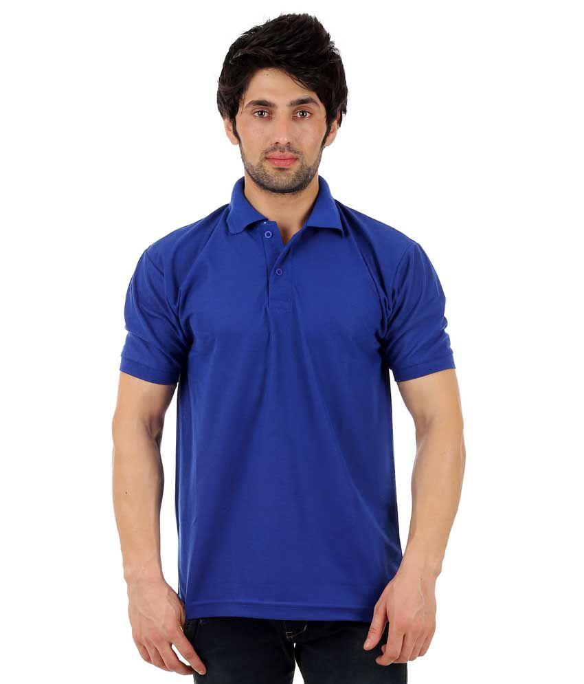 Finix Blue Half Sleeves Polo T Shirt