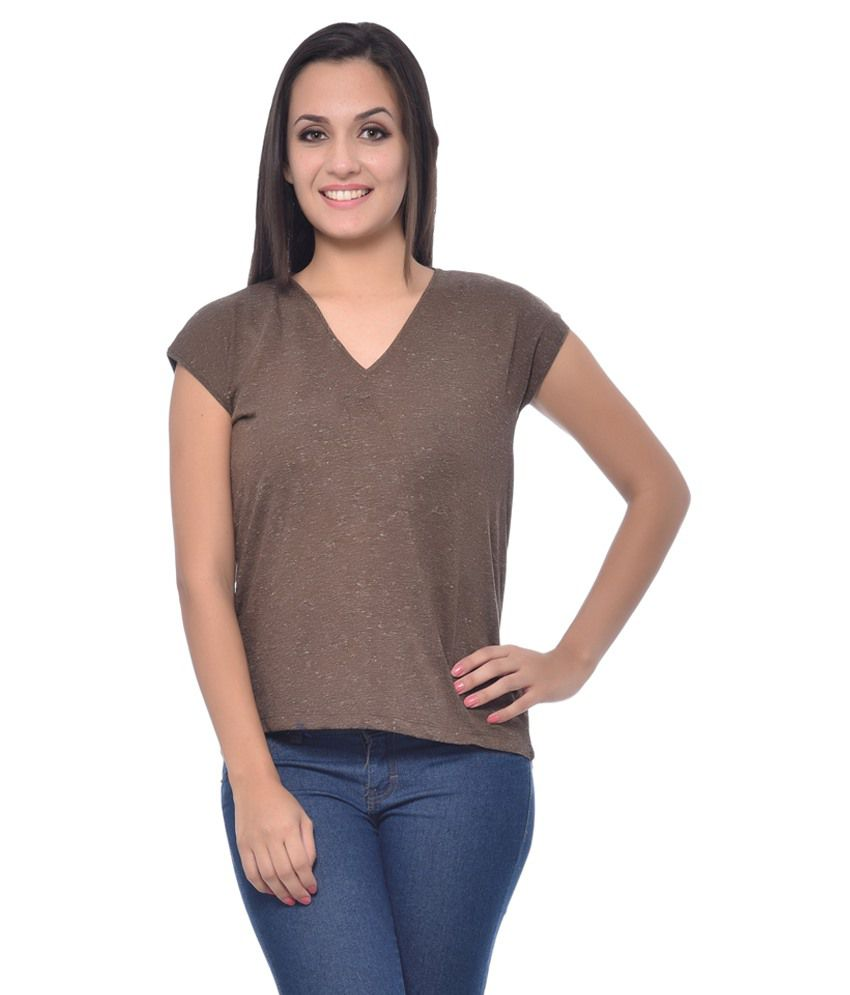 Frenchtrendz Brown Viscose Tees