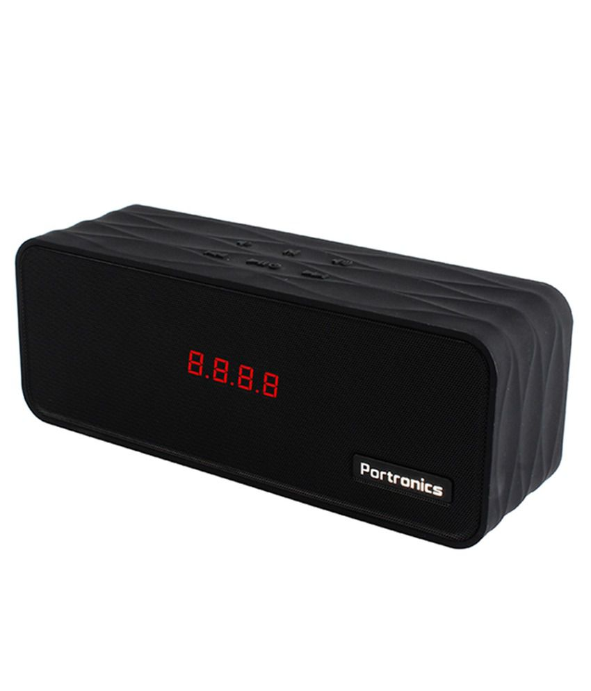 Portronics Sublime II Portable Bluetooth Multimedia Speaker With FM, Micro SD Slot and OTG Cable - Black