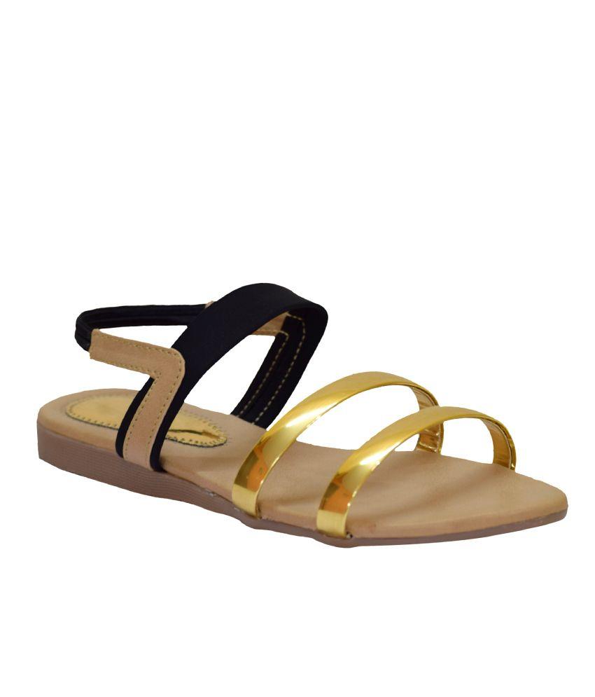 Apick Black Flat Slip-on & Sandal