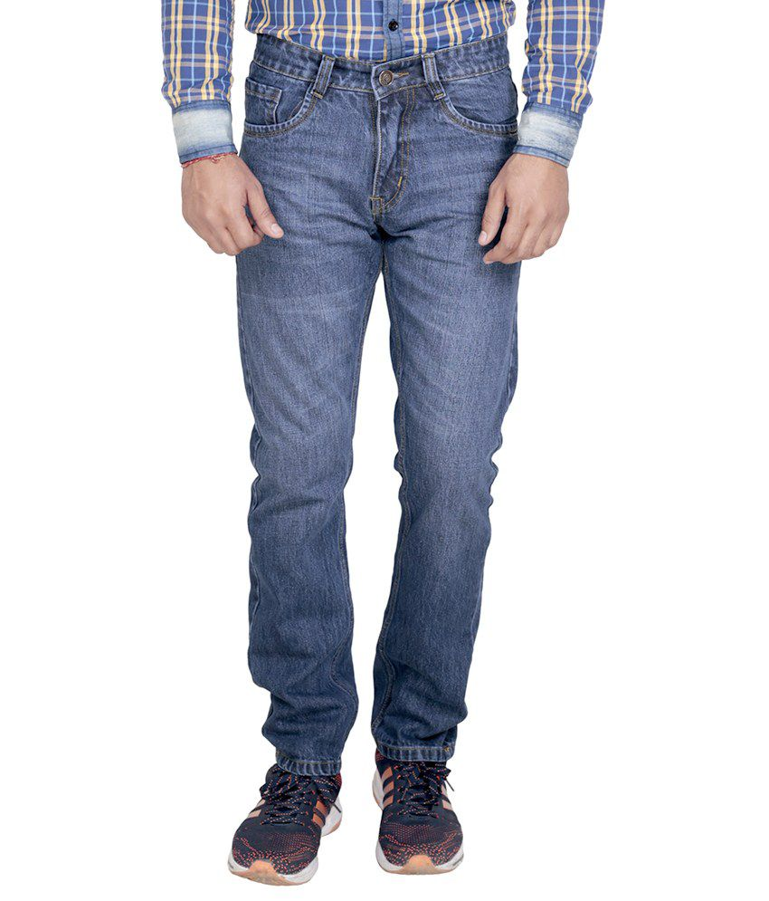 Baba International Blue Regular Fit Jeans