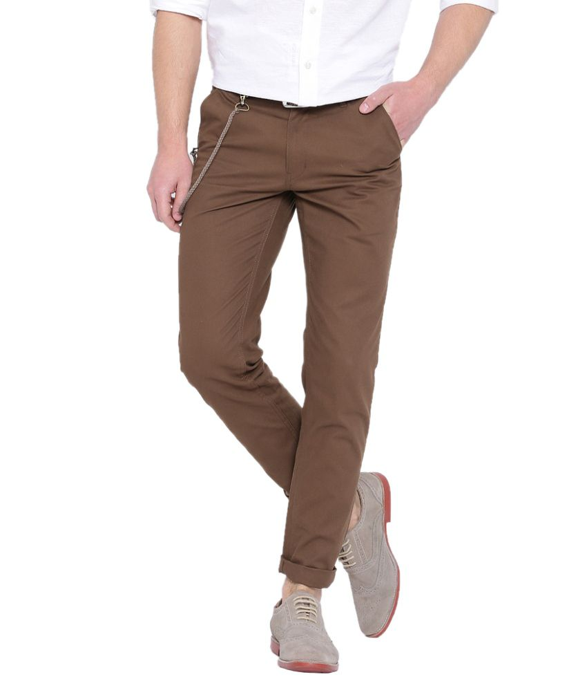 Hubberholme Brown Slim Fit Chinos