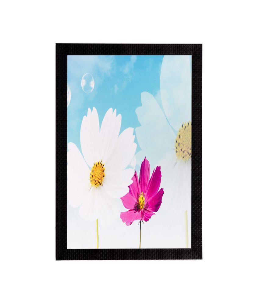 eCraftIndia Flower Matt Textured Framed UV Art Print