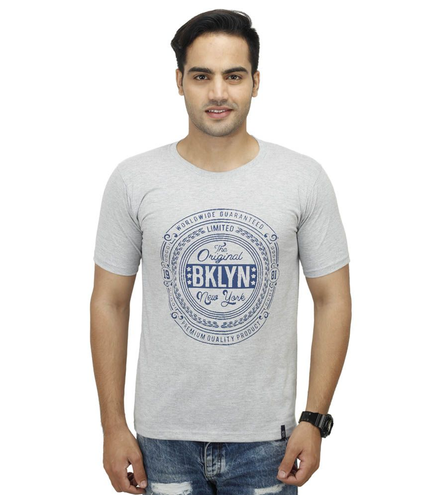 Inkdice Grey Round T Shirts
