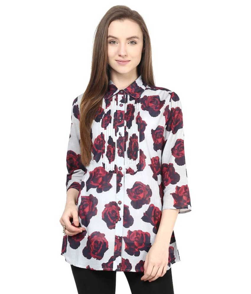 Love From India Multi Color Viscose Shirts