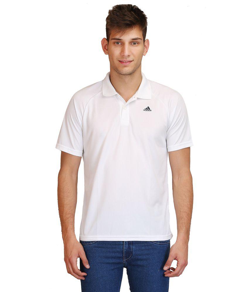 Adidas White Polo T Shirts