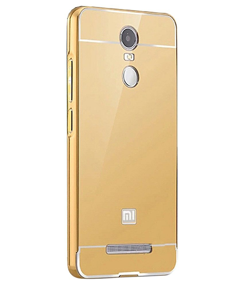 low priced 3bb25 fe3ab Me Case Back Cover For Xiaomi Redmi Note 3-Golden