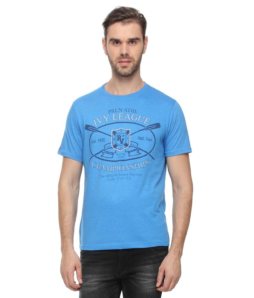 Proline Blue Round Neck T-Shirt
