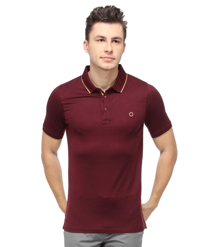 Proline Brown Half Sleeves Solids Polo T-Shirt