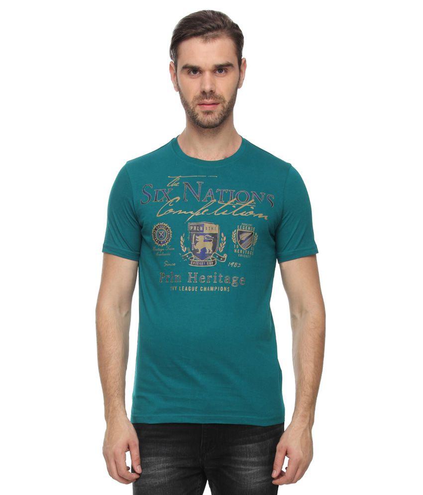 Proline Green Round Neck T-Shirt