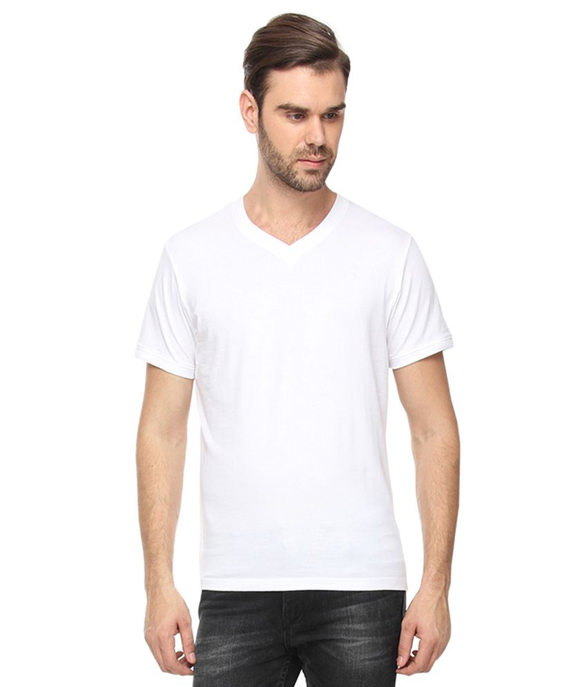 Proline White V-Neck T-Shirt