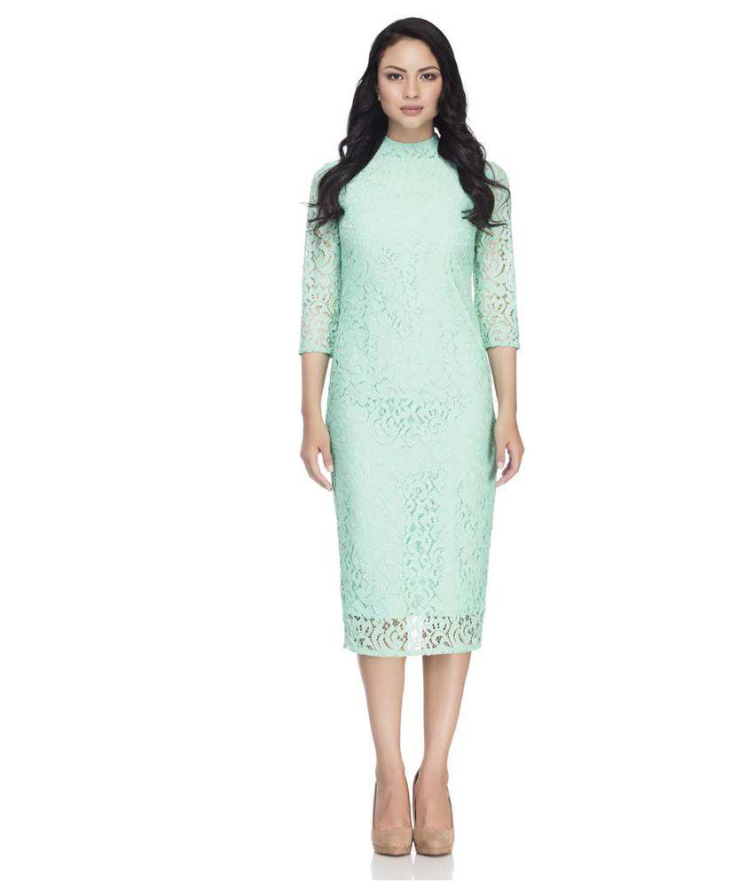 22d6da7138f0 Femella Green Lace Dresses - Buy Femella Green Lace Dresses Online at Best  Prices in India on Snapdeal