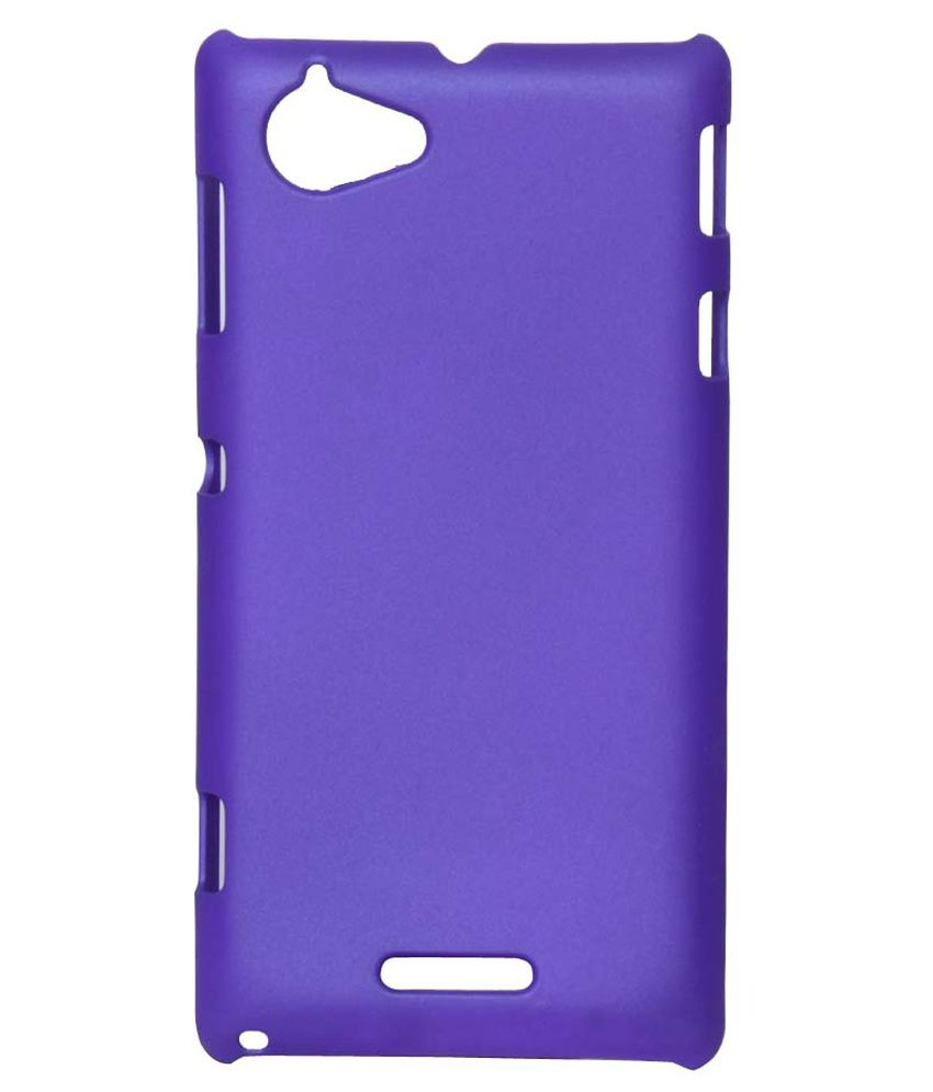 finest selection 36472 d94df Yunic Back Cover for Sony Xperia L - Purple - Plain Back Covers ...