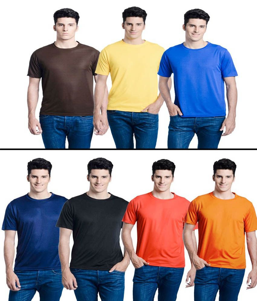 Lime Multi Round T Shirts Pack Of 7