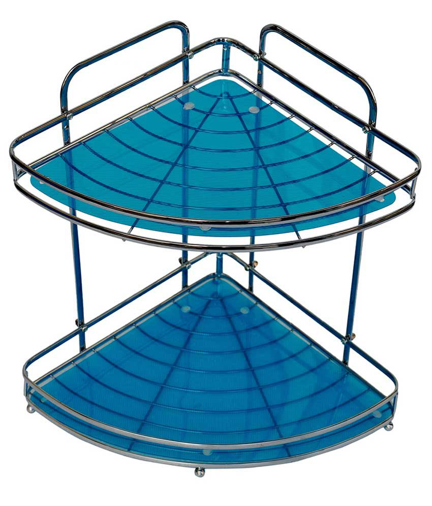 Buy Pindia Blue Stainless Steel Corner Rack Online at Low Price in ...