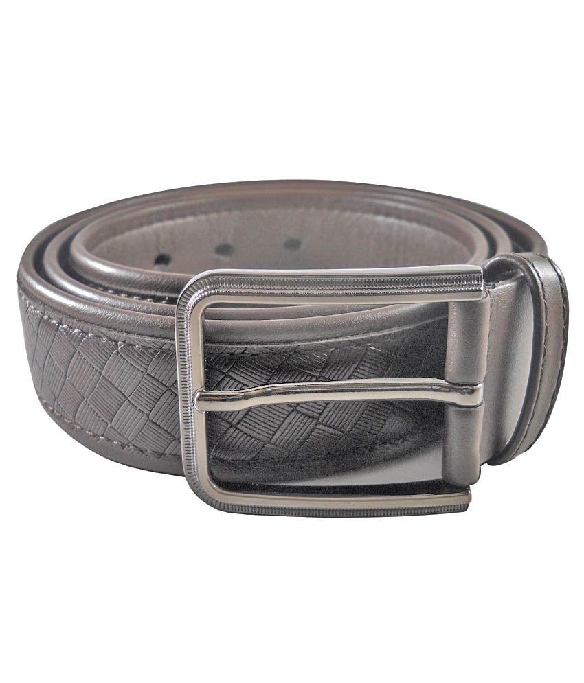 Siddhi Vinayak Enterprises Black Leather Formal Belt for Men