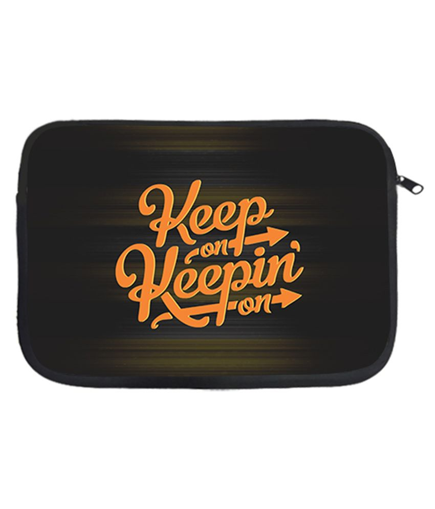 Via Flowers Polyester Laptop Sleeve Keep On 13 Inch - Multicolor