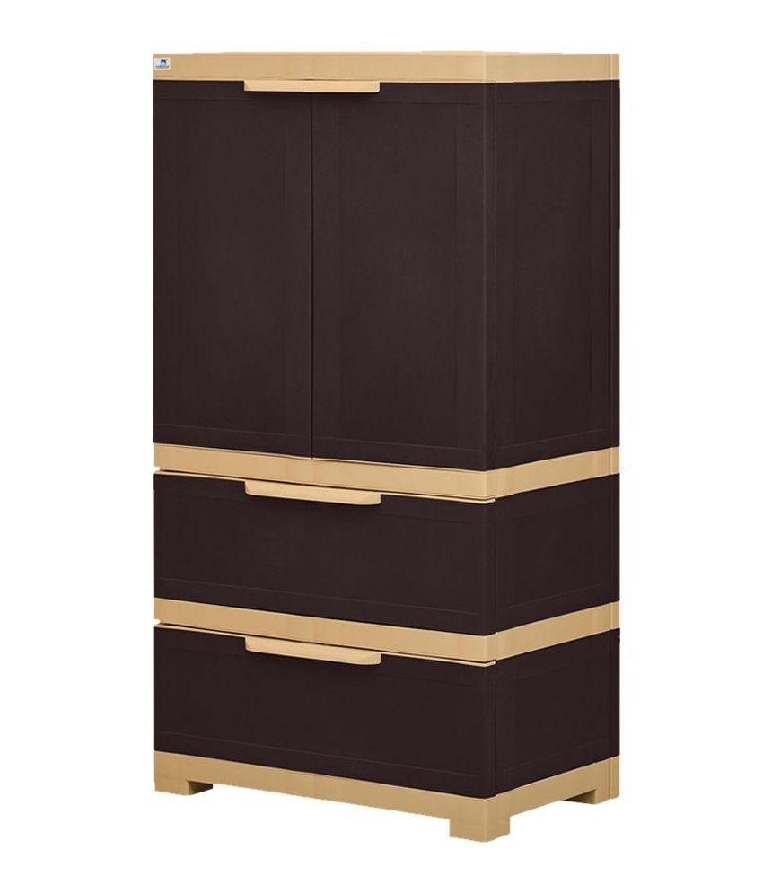 ... Nilkamal Freedom 2 Door Cabinet With 2 Drawers  Brown ...