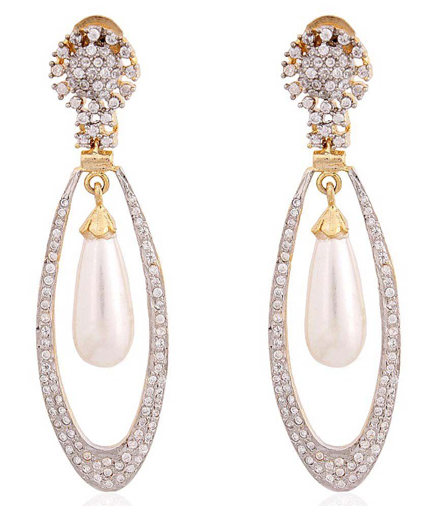 Fasherati Silver Brass Drop Earring