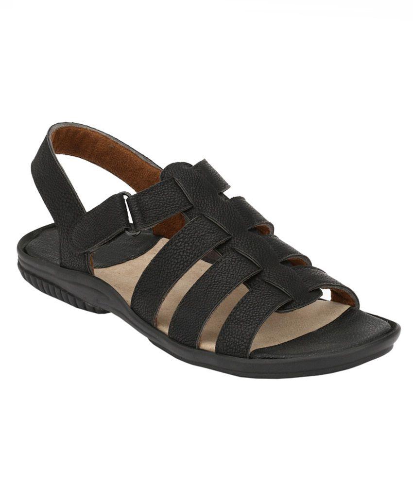 Leeport Black Sandals
