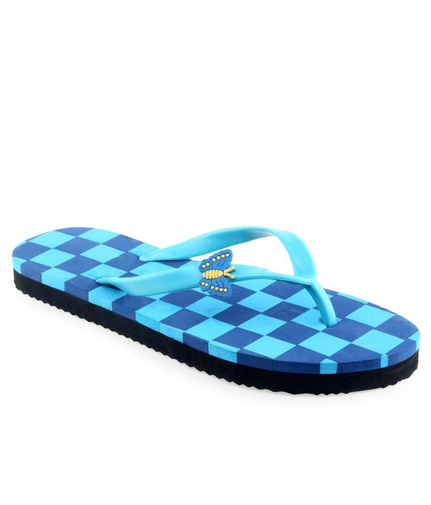 Shoe Lab Blue Slippers