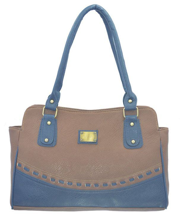 Ermani Export Gray P.U. Shoulder Bag