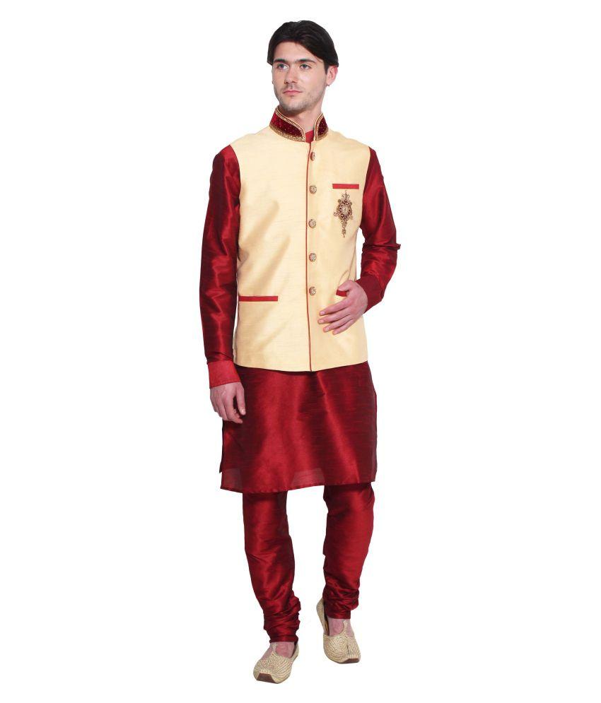 Favoroski Off-White festive Waistcoats