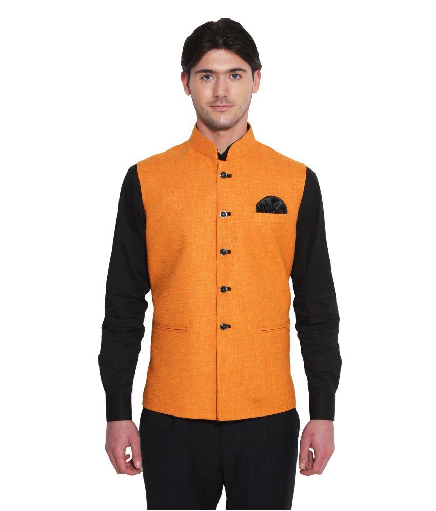Favoroski Orange festive Waistcoats