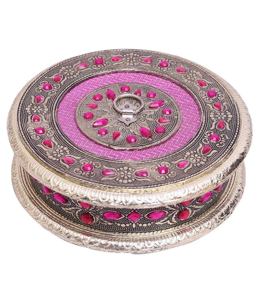 Jupiter Enterprises Pink and Gold Jewellery Box