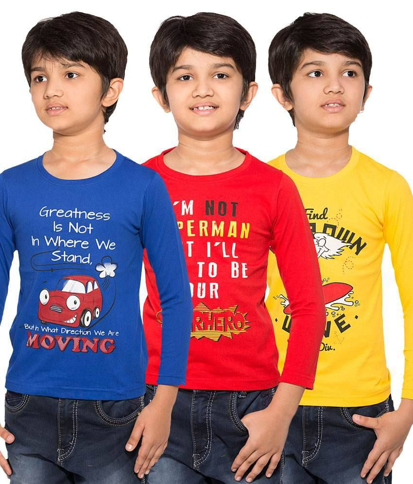 c6db02bf Maniac Pack of 3 Multicolour Full Sleeves T-Shirts - Buy Maniac Pack of 3  Multicolour Full Sleeves T-Shirts Online at Low Price - Snapdeal