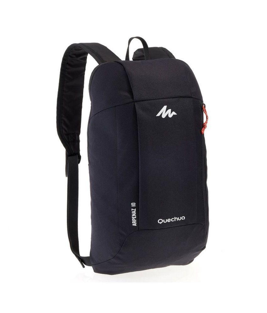 quechua below 10 litre blue hiking bag buy quechua below