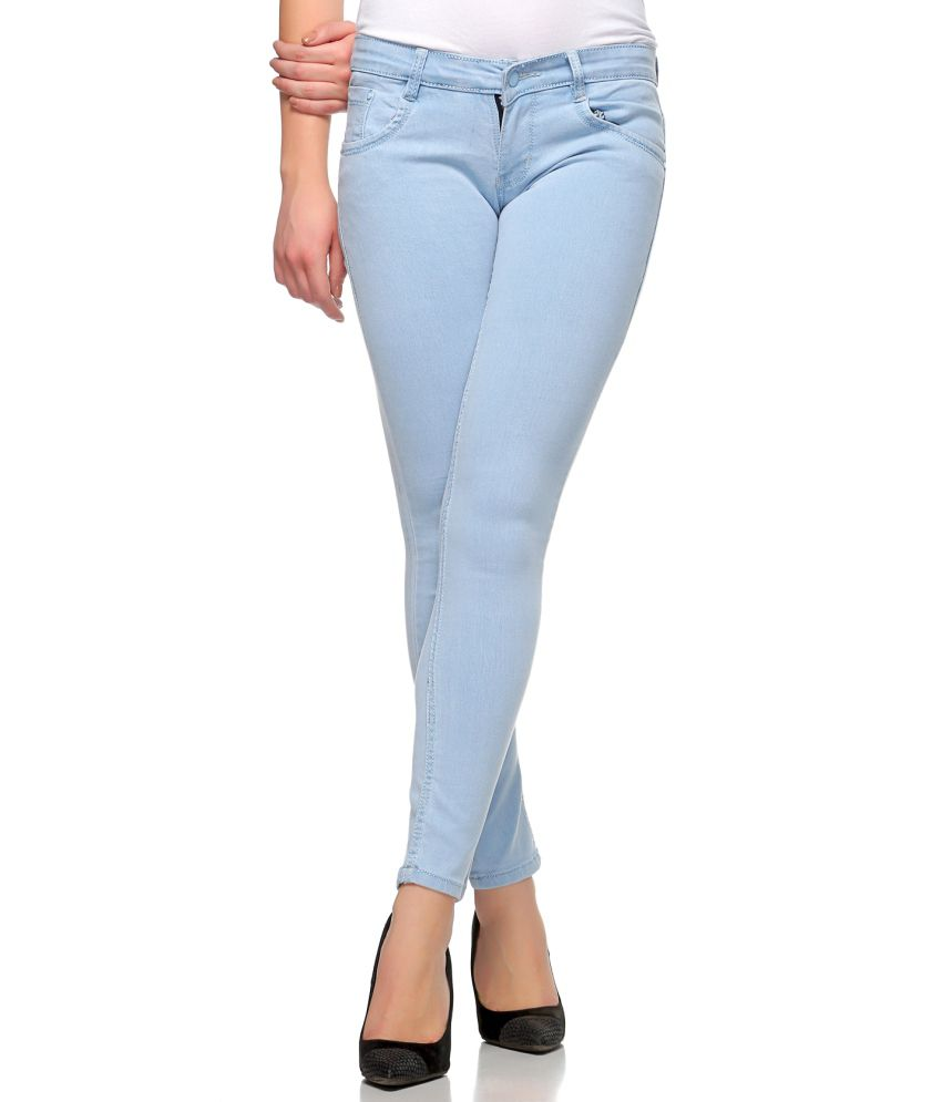 5bf3774e058 Buy Fasnoya Blue Denim Lycra Jeans Online at Best Prices in India - Snapdeal