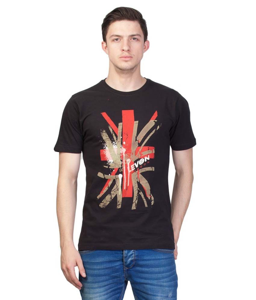 Levon London Black Round T Shirts