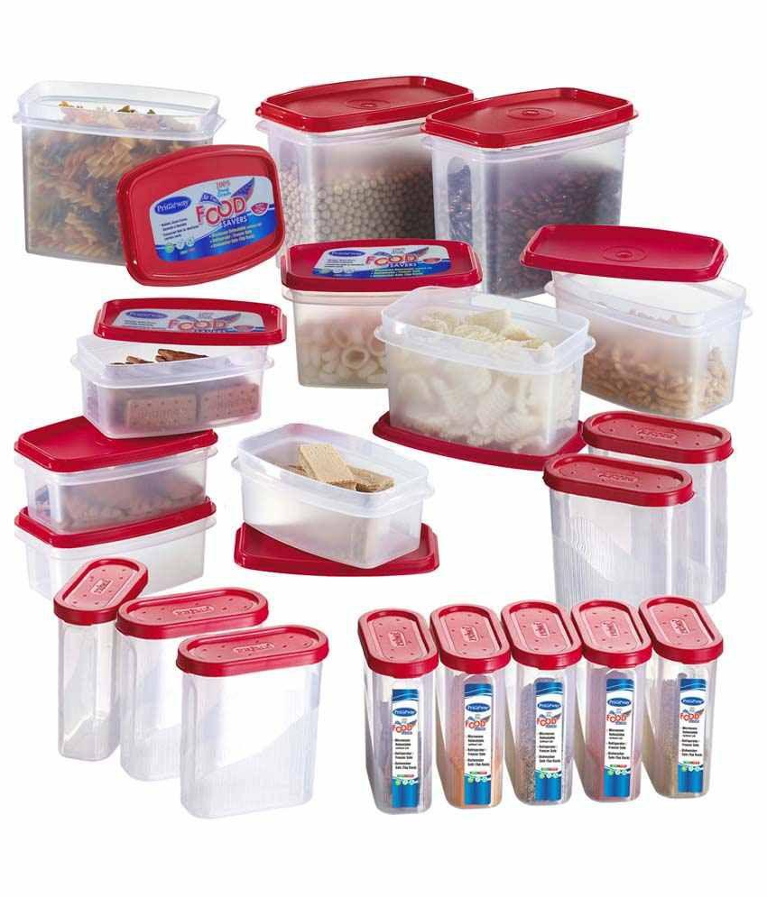 Primeway  Food Storage Container Set - 20 Pcs - Red