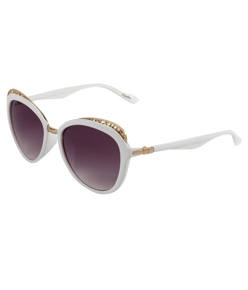 Zyaden Purple Oval Sunglasses