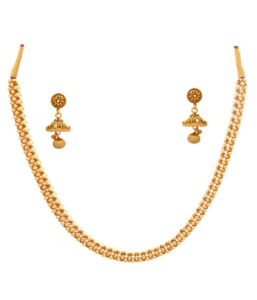 JFL - Jewellery For Less Golden Copper Necklace Set