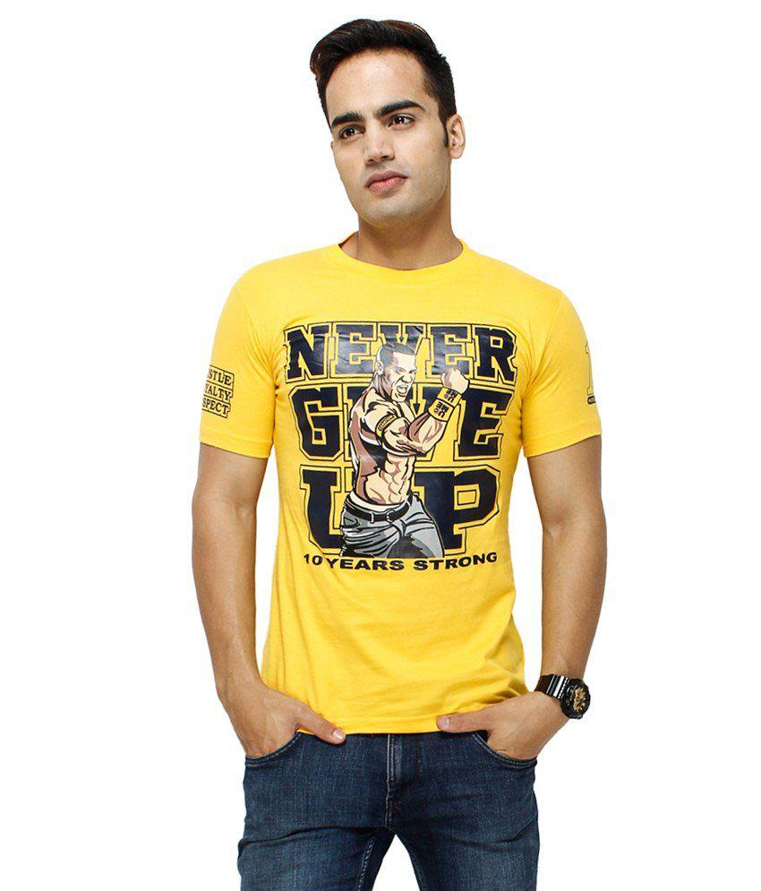 Attitude Yellow Round T Shirts