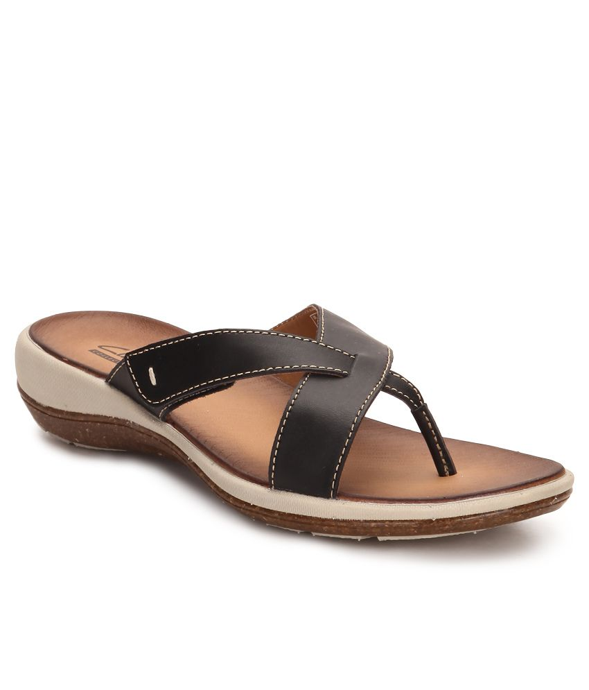Clarks Black Flat Slip-on & Sandal