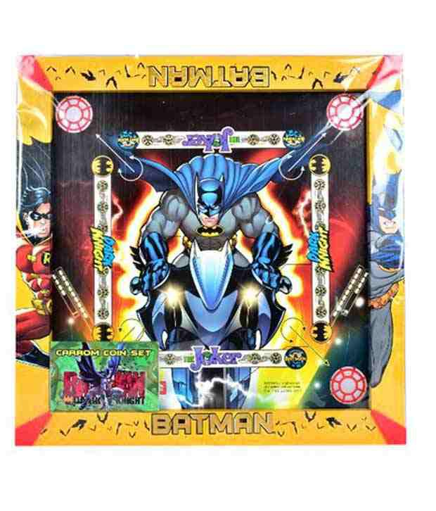 Batman Multicolour Batman 2-in-1 Carrom Board with Snakes and ladders Game