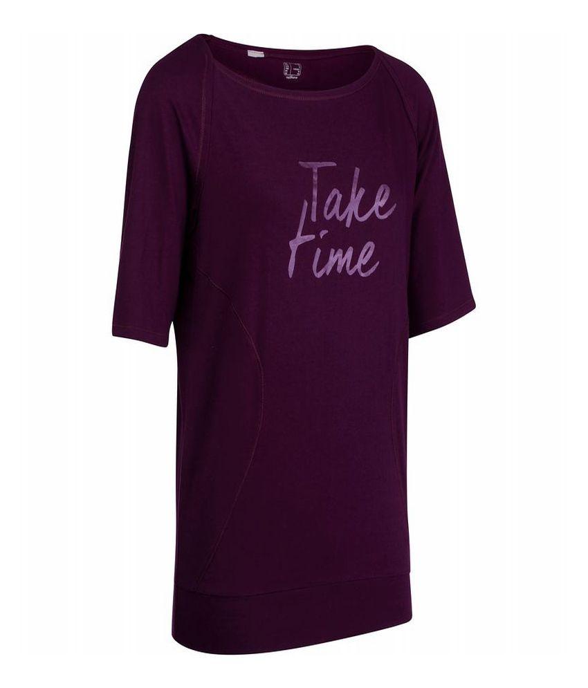 DOMYOS 3/4 Women's Yoga Long-Sleeved T-Shirt By Decathlon