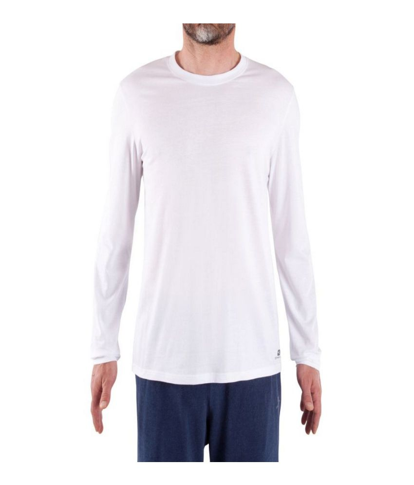 DOMYOS Comfort Men's Fitness Essential Long-Sleeved T-Shirt By Decathlon