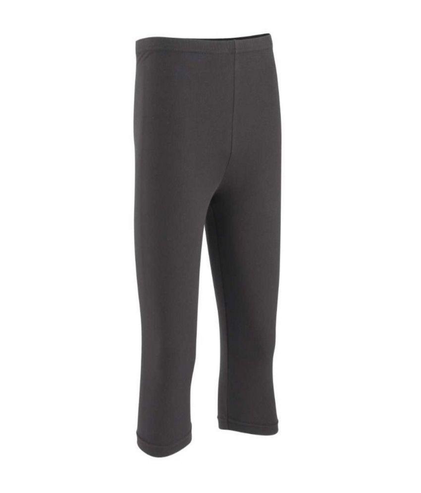 DOMYOS Comfort Plus Girls Fitness Cropped Leggings By Decathlon