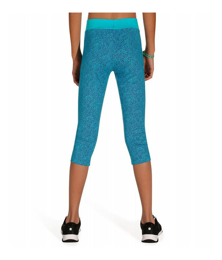 ae5c4d58b65dcf DOMYOS Comfort Plus Kids Fitness Cropped Leggings By Decathlon: Buy Online  at Best Price on Snapdeal
